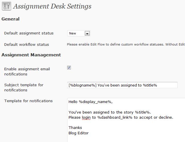 assigment-desk
