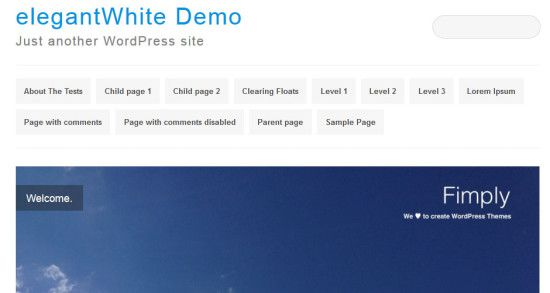 elegantWhite-WordPress-theme