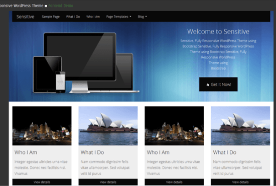 sensitive-theme-wordpress-gratis