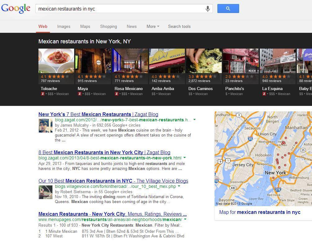 Google Carousel y el posicionamiento local