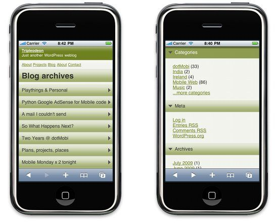 wordpress-mobile-pack