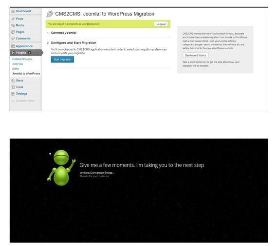 Exportar de Joomla a WordPress fácilmete