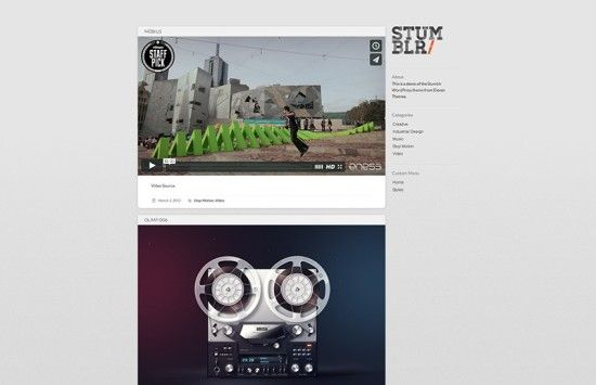 stumblr-wordpress-theme-video