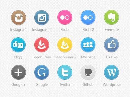 20 Packs de iconos de redes sociales, ¿te los vas a perder?