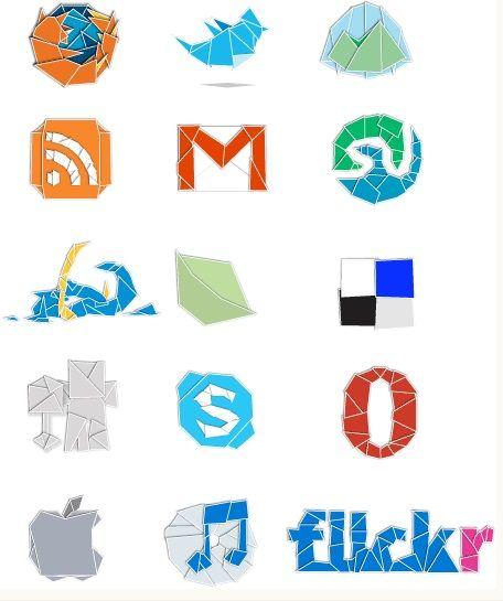 iconos-redes-sociales-origami