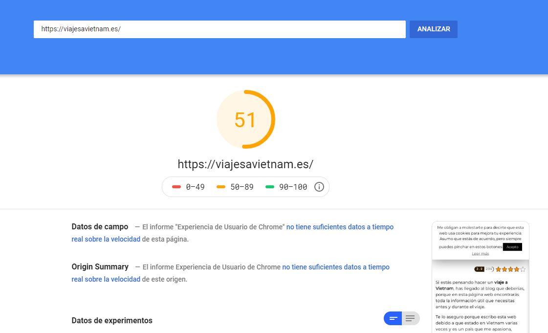 google-pagespeed-insights-pantallazo