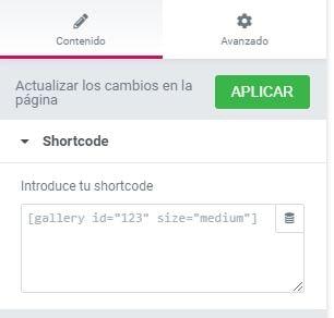 shortcode-elementor